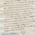 Napoléon 1er (1769/1821) – Empereur des Français Lettre signée «Napol» dictée au Baron Fain, adressée au Duc de Feltre St Cloud 4 mai 1811 «Je réponds à votre rapport du […]