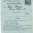 Jules RENARD (1864/1910) – Ecrivain Lettre autographe signée à Lucien DESCAVES – Paris 5 novembre 1891 sur entier postal pneumatique «…j'ai été obligé de télégraphier ce matin à Bonnetain de […]