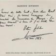 Georges SIMENON (1903/1989) Ecrivain célèbre notamment pour les aventures du commissaire Maigret Carte autographe signée à Emmanuel Berl – 16 mai 1967 «Merci pour votre mot, mon cher Berl. Mais […]