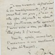 Emile ZOLA (1840/1902) – Ecrivain Lettre autographe signée – Paris 15 mars 1896 – 1p in-8 «Je vous remercie infiniment de vos renseignements, et je me permettrai, un jour, d'user […]