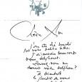 Georges MATHIEU (1921/2012) Artiste peintre considéré comme un des pères de l'abstraction lyrique Lettre autographe signée. 1p in-4 à son en-tête. Très touché par la petite lettre de sa correspondante, […]