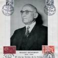 Robert SCHUMAN (1886/1963) – Homme d'Etat Français Il est considéré comme l'un des pères fondateurs de la construction européenne. Document avec portrait et timbres et cachets postaux commémorant le plan […]