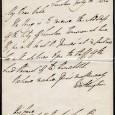 Arthur Wellesley Duc de WELLINGTON (1769/1852) Général anglais, adversaire et vainqueur de Napoléon à Waterloo Lettre autographe signée – 1p in-4 – Londres 10 juillet 1830 Lettre en anglais, Wellington […]