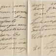 Marthe Caroline CARVALHO (1827/1895) – Cantatrice Lettre autographe signée 3p in-8 – 20 février1890 «Il est impossible d'être plus étourdie et ce n'est pourtant pas dans mes habitudes. Chère madame […]