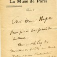 Gustave Charpentier (1860/1956) – Compositeur  Lettre autographe signée à M. Hachette – 1p 1/2 in-8 – Lettre à en-tête :  «Fête Municipale du Centenaire de Michelet 13 […]