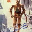ANTHONY DANIELS Acteur britannique ayant joué le rôle de C-3PO dans les 7 épisodes de la saga Star Wars Photo officielle avec signature autographe 130€